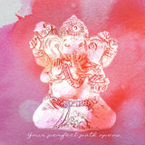 Ganesha Wood Print: Blessings of Success & Path Opening