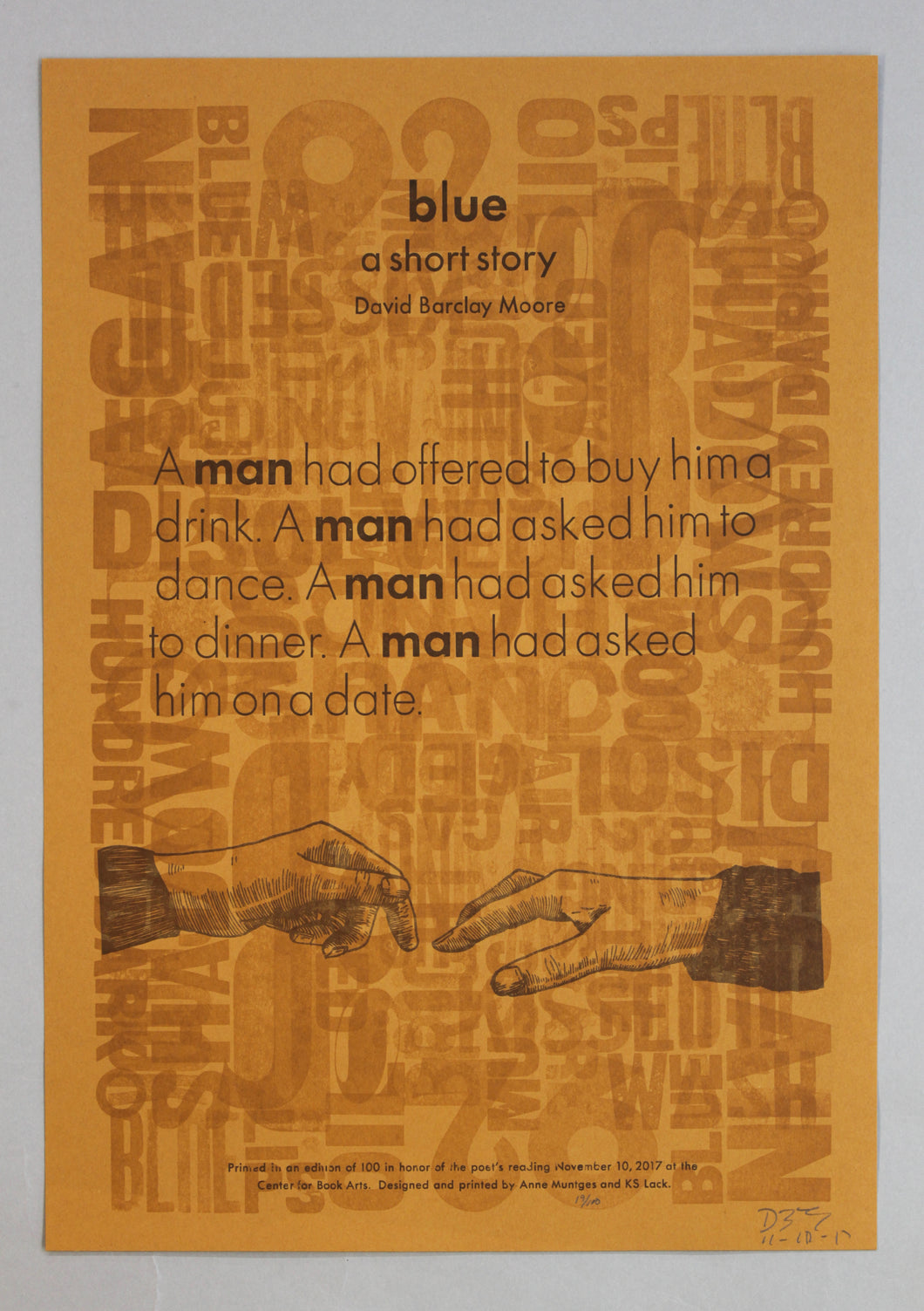 blue a short story by David Barclay Moore
