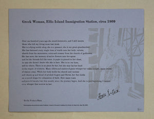 Greek Woman, Ellis Island Immigration Station, circa 1909 by Stella Padnos-Shea