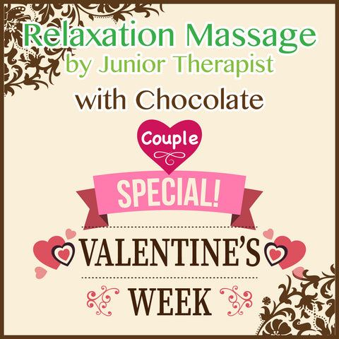 *Valentine's* Relaxation Massage for Couple with Chocolate Aroma