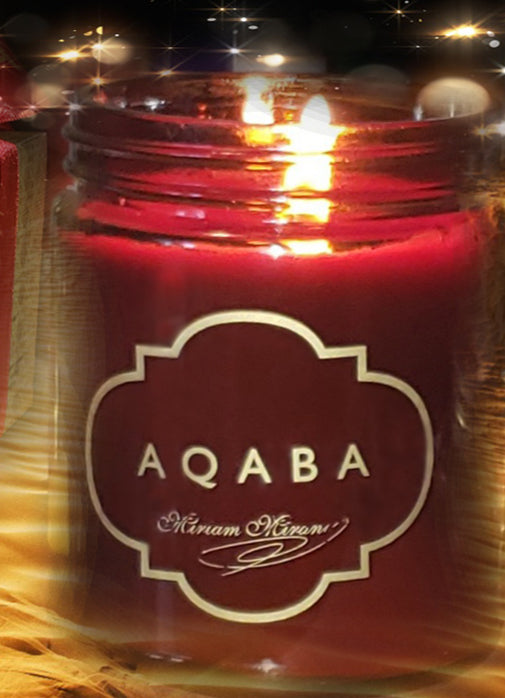 AQABA Perfume 9oz Glass Candle - Free USA Shipping
