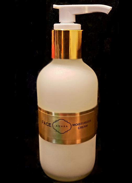 AQABA Face Moisturizer- 4oz/120ml - Very gentle and smooth, for daily use, with Sunflower, Aloe Juice and Vitamin E.