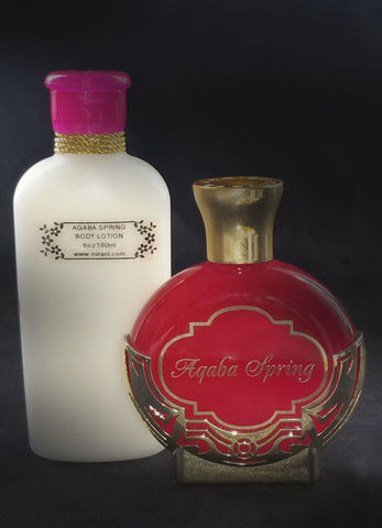 AQABA SPRING 3.4oz/100ml with SPRING Body Lotion 6oz/180ml