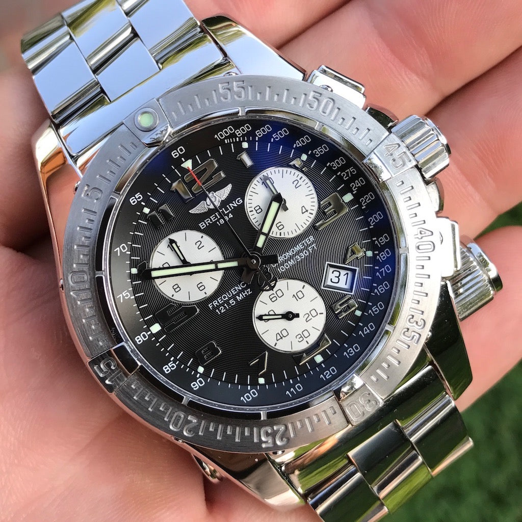 Breitling EMERGENCY MISSION Steel Chronograph w/ Special Save Your Life Feature