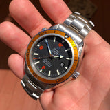 Omega Seamaster 2208.50 Orange Bezel 45.5mm Co-Axial Steel Wristwatch Box & Papers