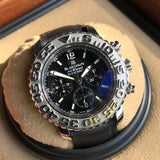 Blancpain Air Command Flyback Chronograph 2285 Black Automatic Wristwatch Box Papers - Hashtag Watch Company