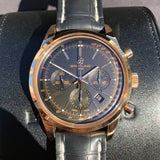 Breitling Transocean RB015212 18K Rose Gold Chronograph Black Dial Wristwatch Box Papers
