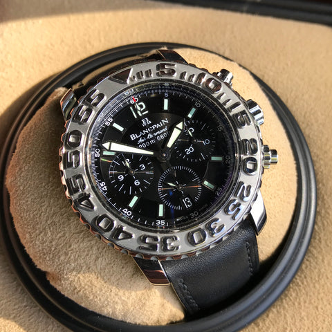 Blancpain Fifty Fathoms GMT Trilogy Edition Air Command 2250 Automatic Wristwatch Box Papers