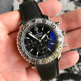 Blancpain Air Command Flyback Chronograph 2285 Black Automatic Wristwatch Box Papers
