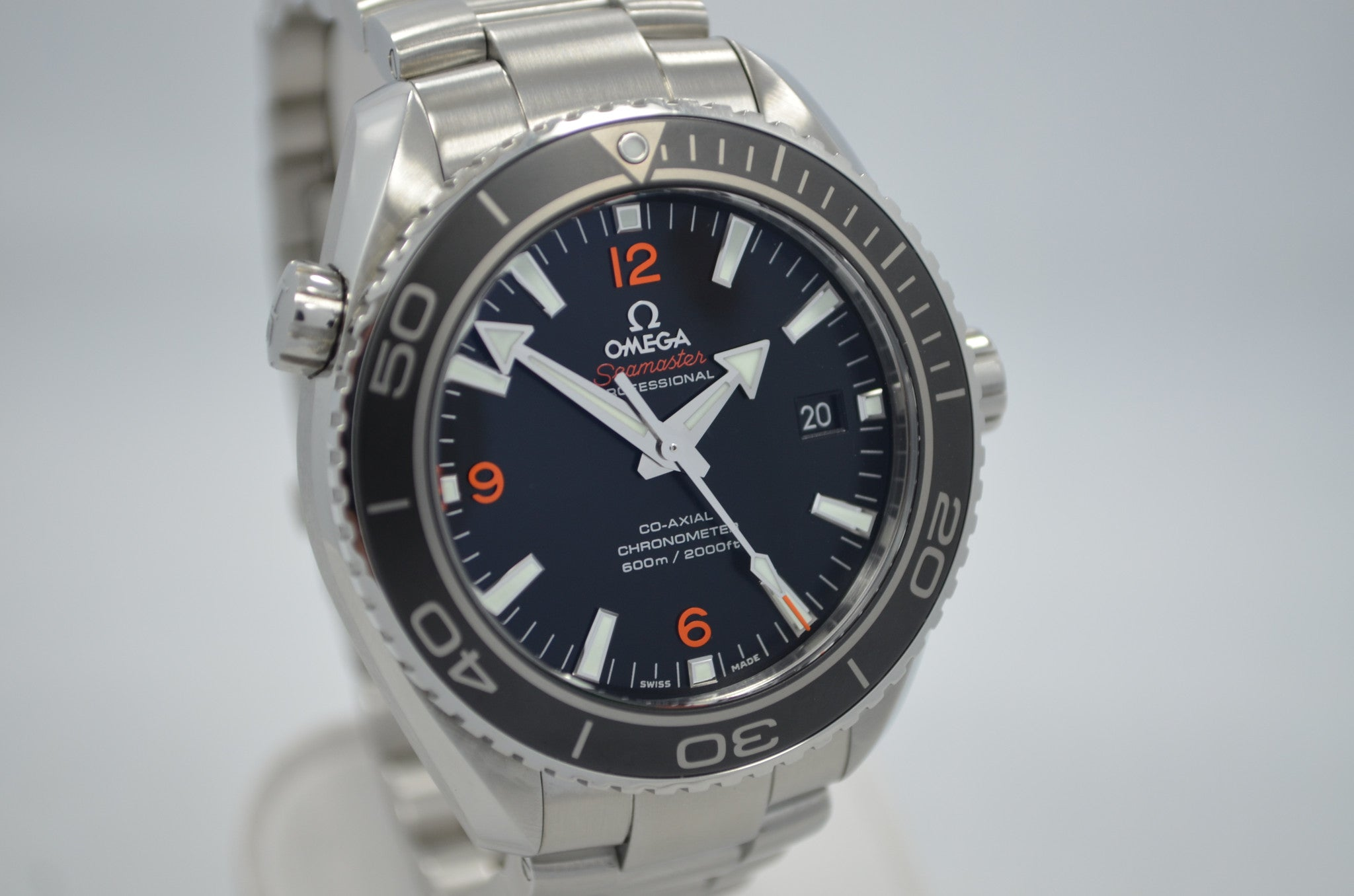 Omega 232.30.46.21.01.003 Seamaster Planet Ocean Professional 600M Master Co-Axial Watch - Hashtag Watch Company