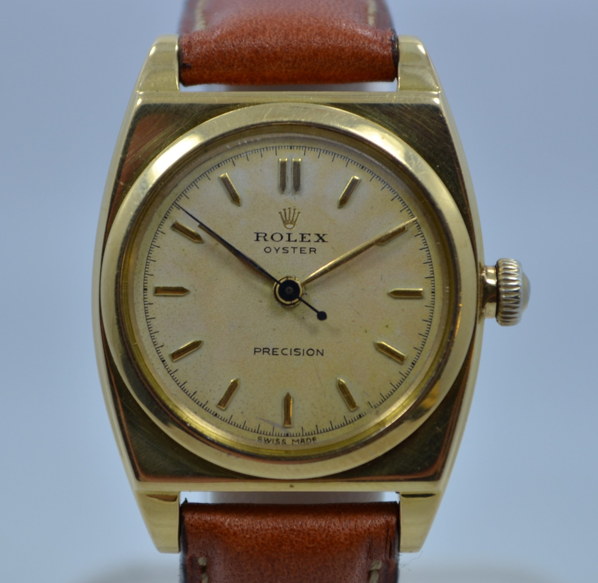 Vintage Rolex 3359 Viceroy 18K Yellow Gold 1934 Wristwatch - Hashtag Watch Company