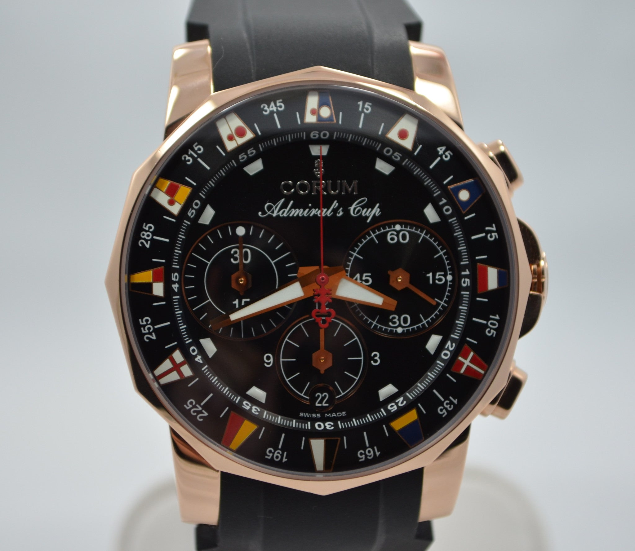 Corum Admirals Cup 985.671.55 18K Rose Gold Wristwatch - Hashtag Watch Company