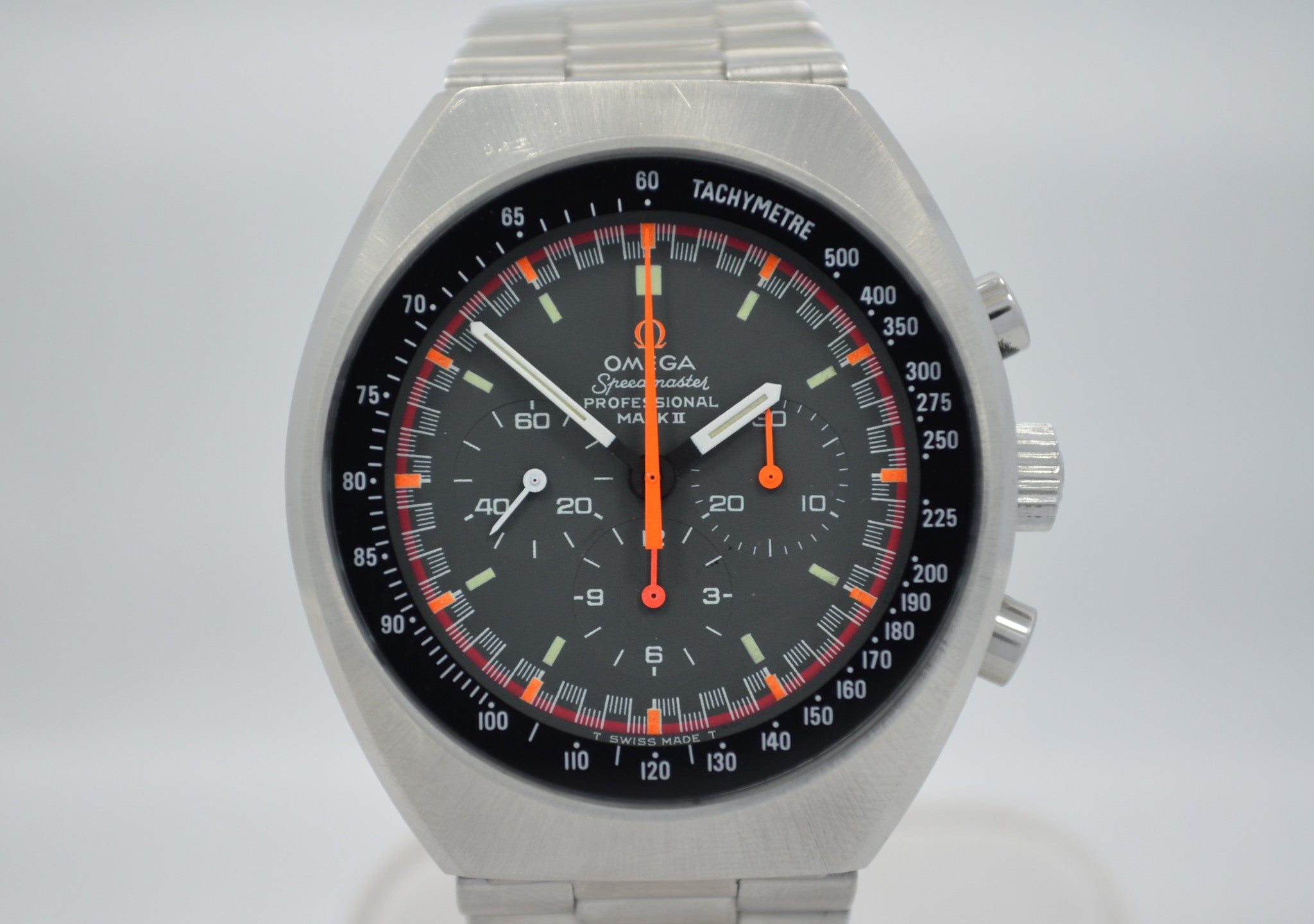 Vintage Omega Speedmaster Mark II 145.014 Chronograph Stainless Steel 861 Wristwatch - Hashtag Watch Company