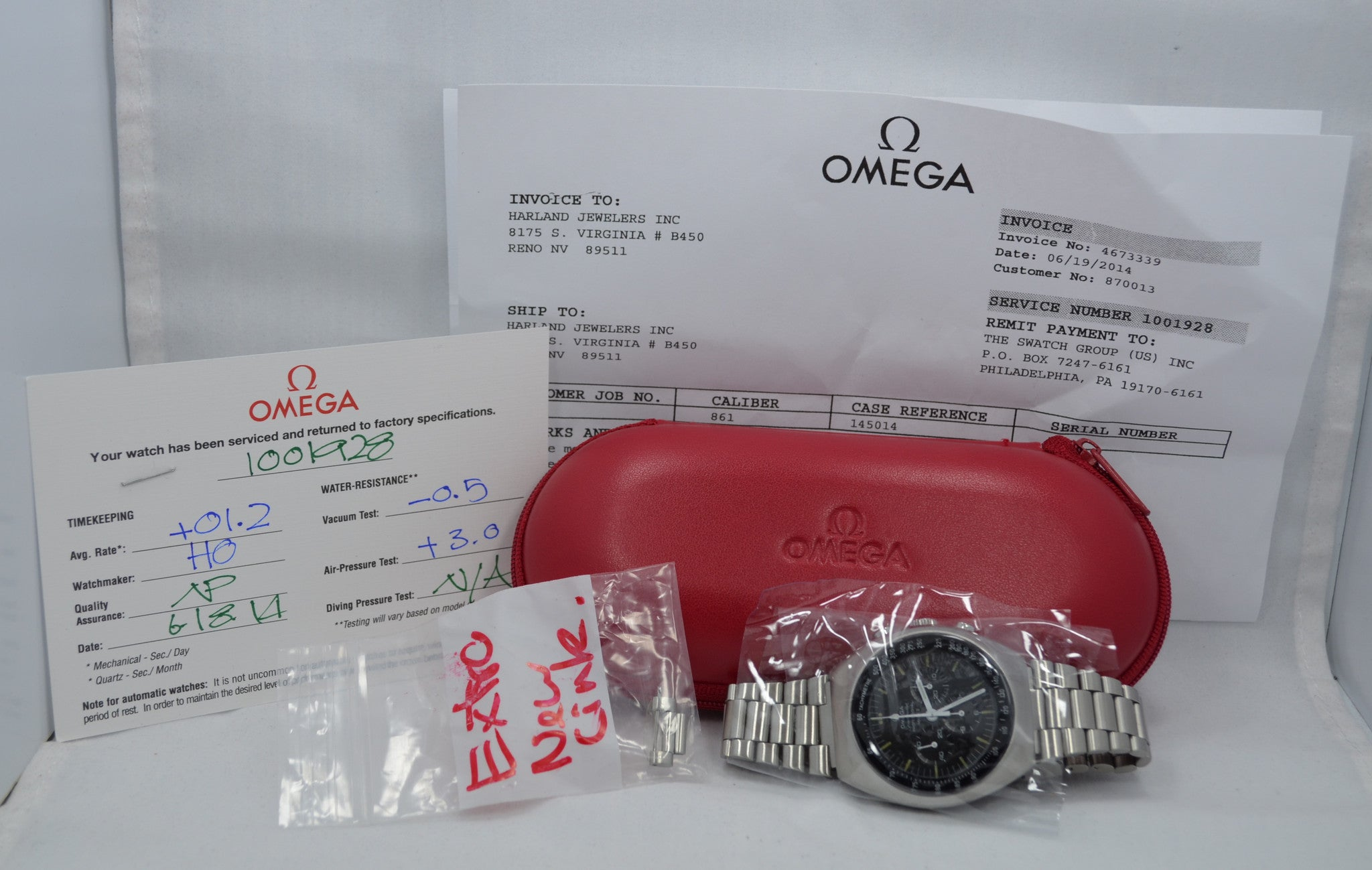 Vintage Omega Speedmaster Mark II 145014 Stainless Steel Wristwatch