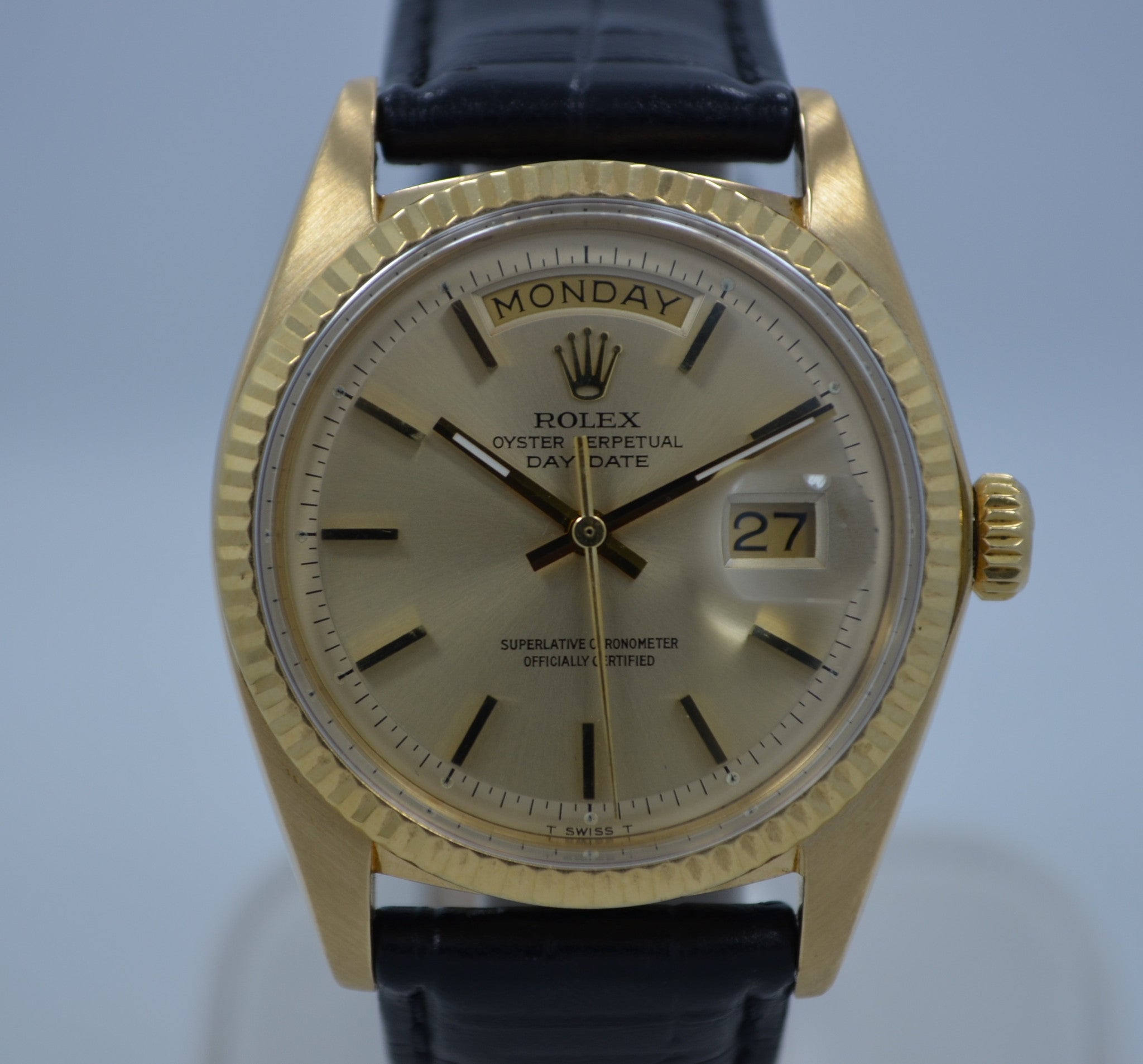 Vintage Rolex 1803 President Day Date 3.6 Mil 1972 18K Yellow Gold Wristwatch - Hashtag Watch Company