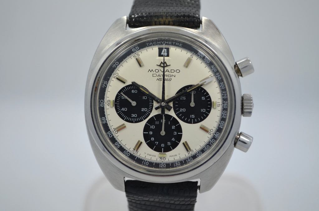 Vintage Movado Datron HS 360 Chronograph 1960's Steel Automatic Wristwatch
