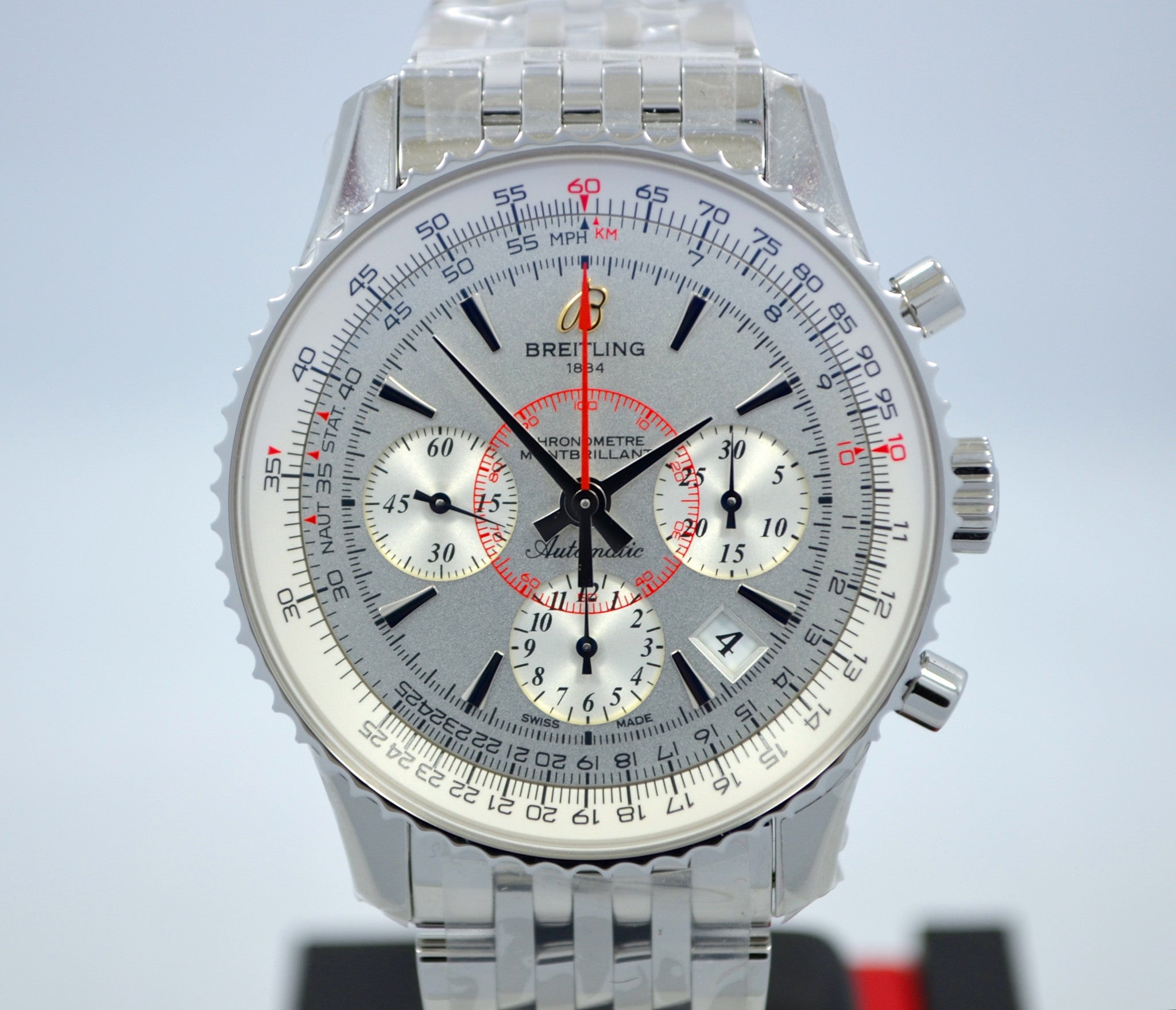 Breitling Montbrilliant 01 AB013012 Chronograph Steel Automatic Wristwatch - Hashtag Watch Company