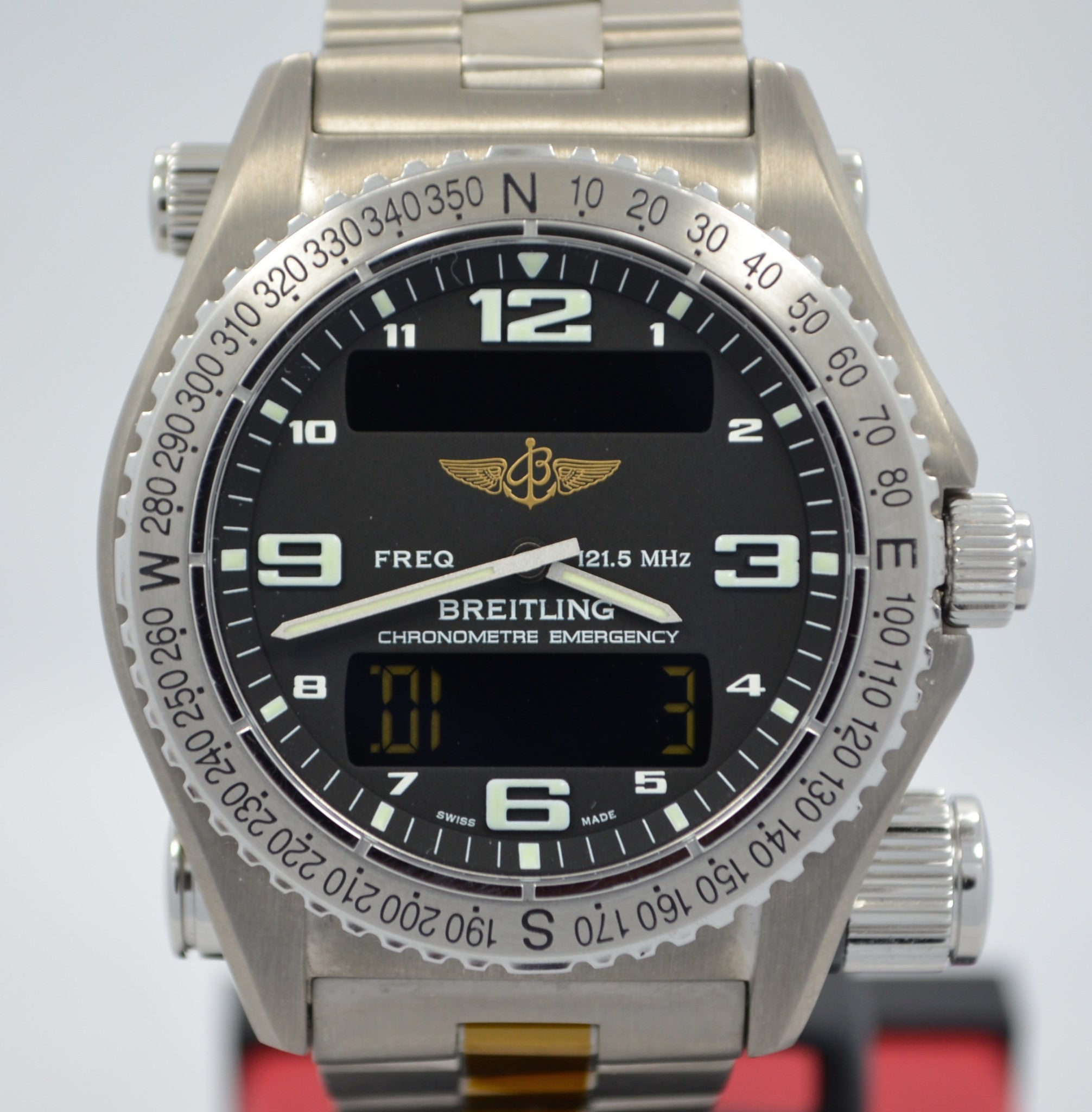 Breitling Emergency E76321 Titanium Aeronautical Kit Quartz Wristwatch - Hashtag Watch Company