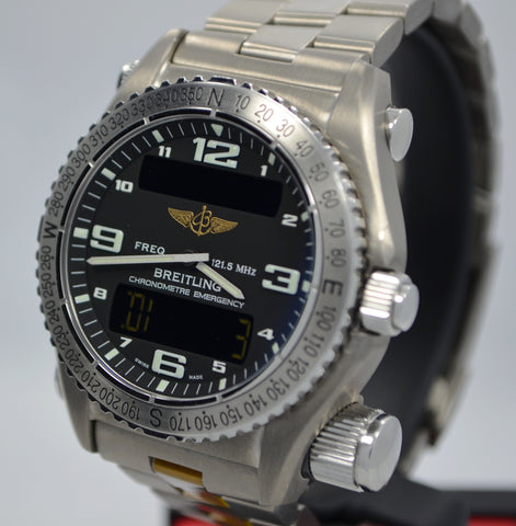 Breitling Emergency E76321 Titanium Aeronautical Kit Quartz Wristwatch