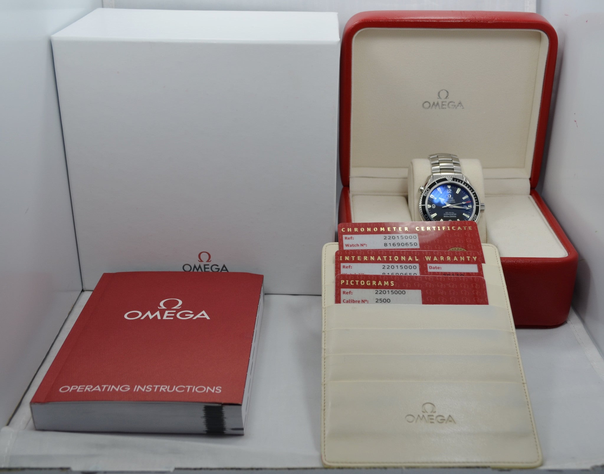 Omega Seamster Planet Ocean 2201.50 Steel Automatic Co-Axial Wristwatch