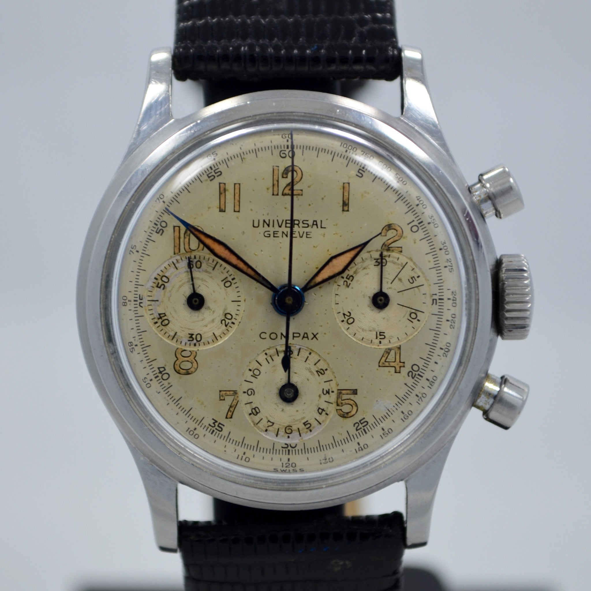 Vintage Universal Geneve Compax 22278 Manual Steel Chronograph Cal. 281 Watch - Hashtag Watch Company