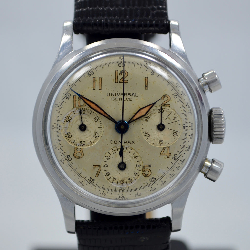 Vintage Universal Geneve Compax 22278 Manual Steel Chronograph Cal. 281 Watch