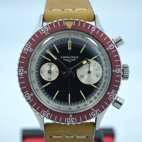 "Vintage Longines 30CH ""Big Eye"" Steel Chronograph Wristwatch"