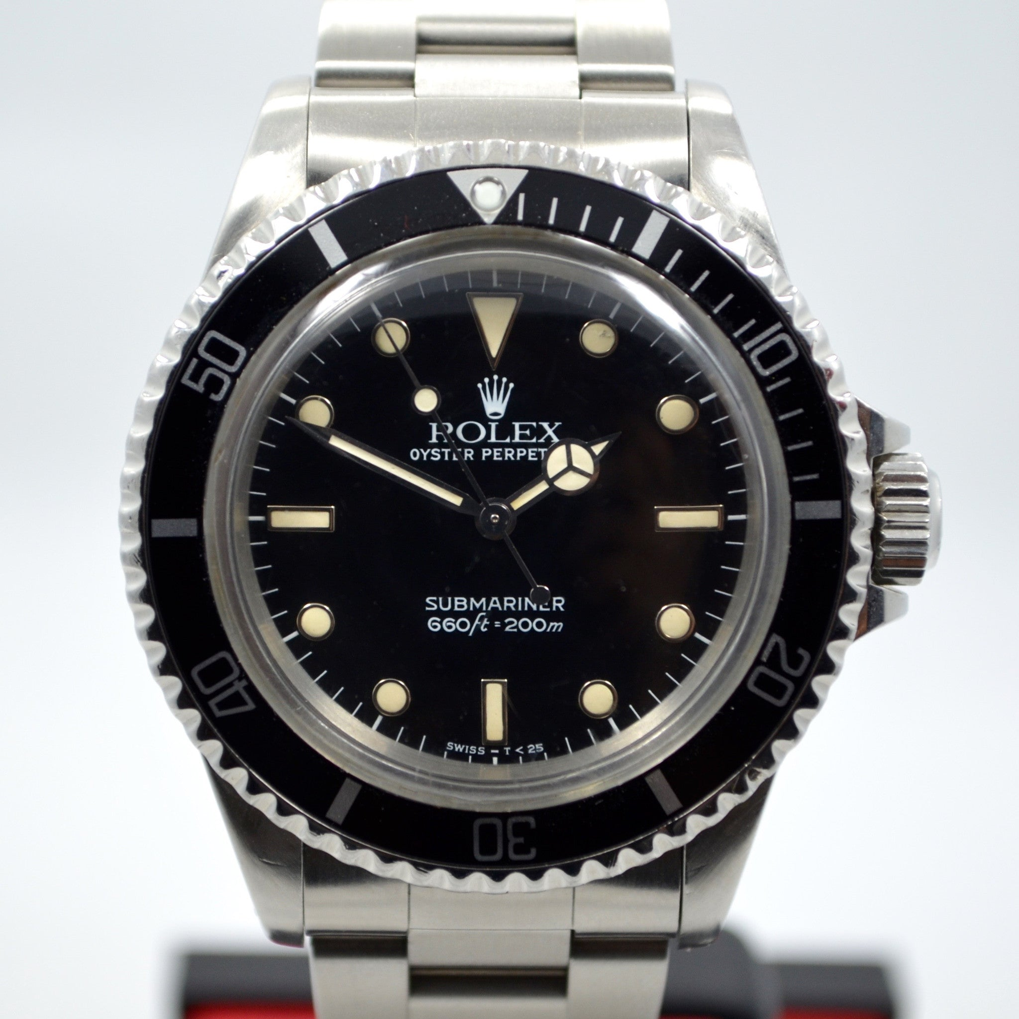 Vintage Rolex 5513 Submariner Stainless Steel 9.4 Mil Wristwatch 1986 Box Papers - Hashtag Watch Company