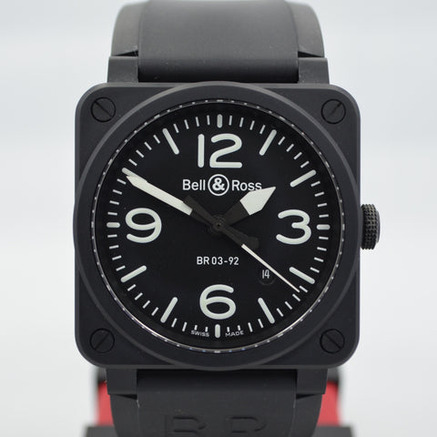 Cartier Roadster XL 2510 Steel Roman Large Size Black Automatic Watch