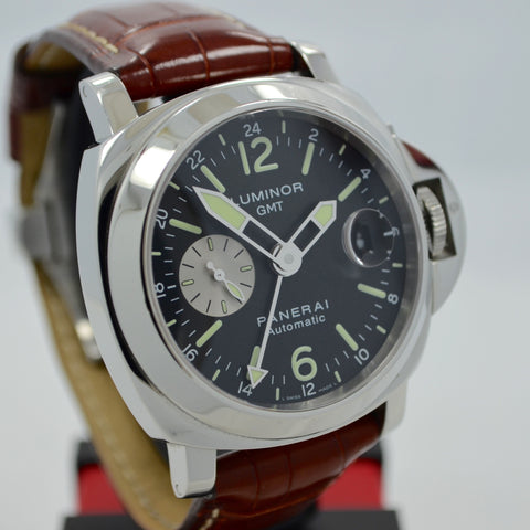 Panerai Luminor GMT PAM 88 Steel Automatic Wristwatch