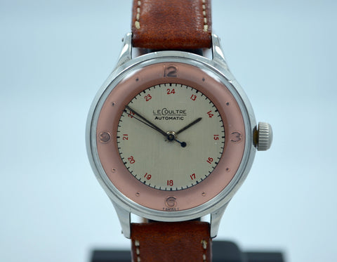 Vintage LeCoultre Steel Bumper Automatic Cal. 12A Two Tone Dial Watch