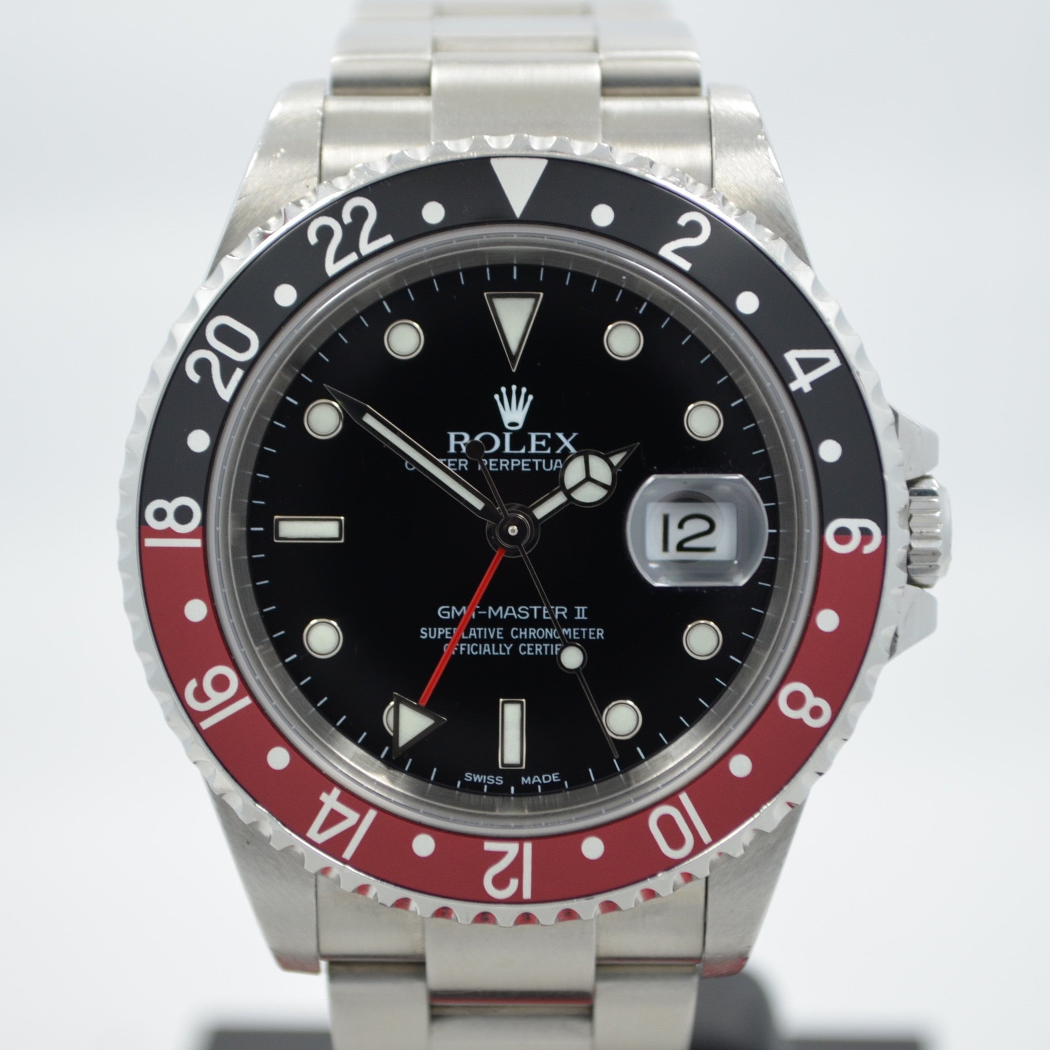 "Rolex GMT Master II 16710 Stainless Steel Coke Automatic Wristwatch ""Y"" Series - Hashtag Watch Company"
