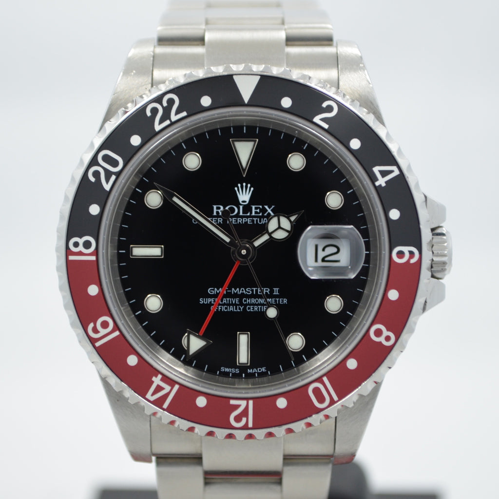 "Rolex GMT Master II 16710 Stainless Steel Coke Automatic Wristwatch ""Y"" Series"