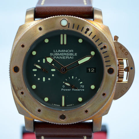 Panerai Bronzo Pam 507 Luminor 1950 Submersible Power Reserve 3 Days Watch