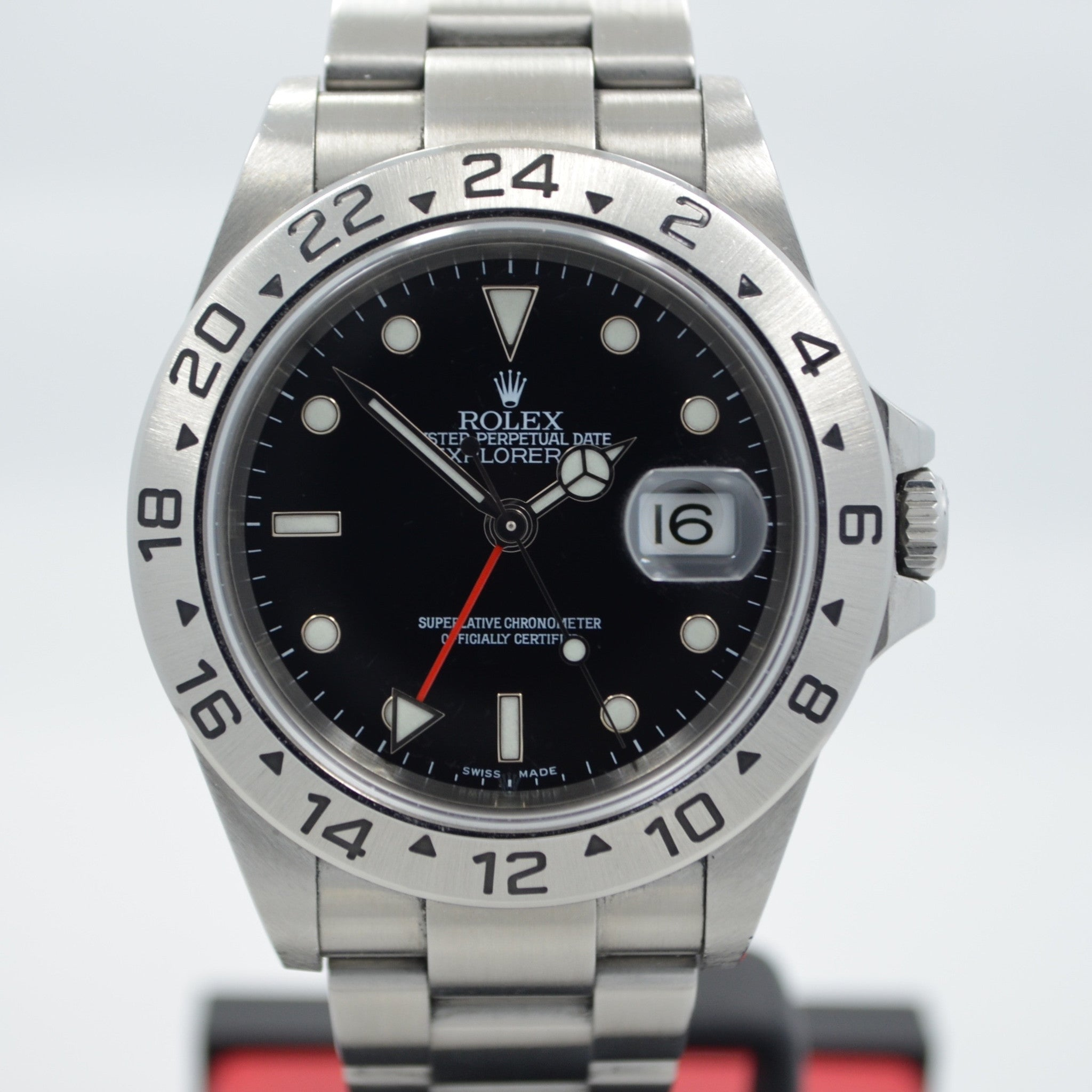 "Rolex Explorer II Steel GMT 16570 Automatic Wristwatch ""Z"" Series Box Papers"