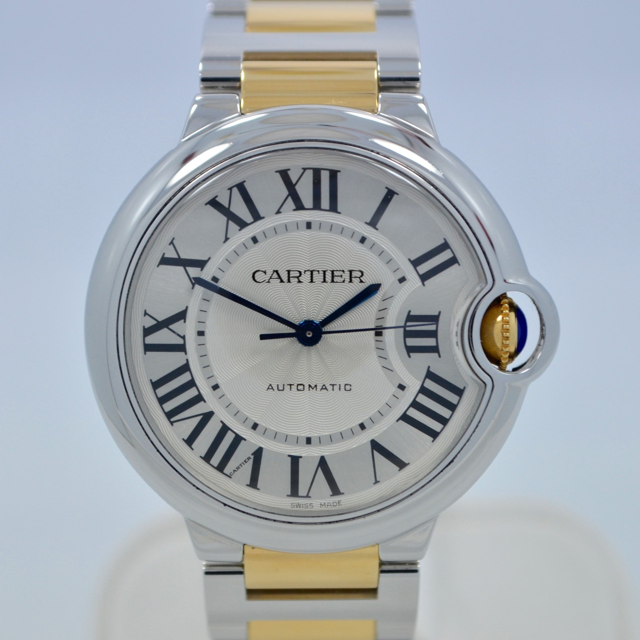 Cartier Ballon Bleu W6920047 Two Tone 18K Stainless Steel Automatic Watch Ladies
