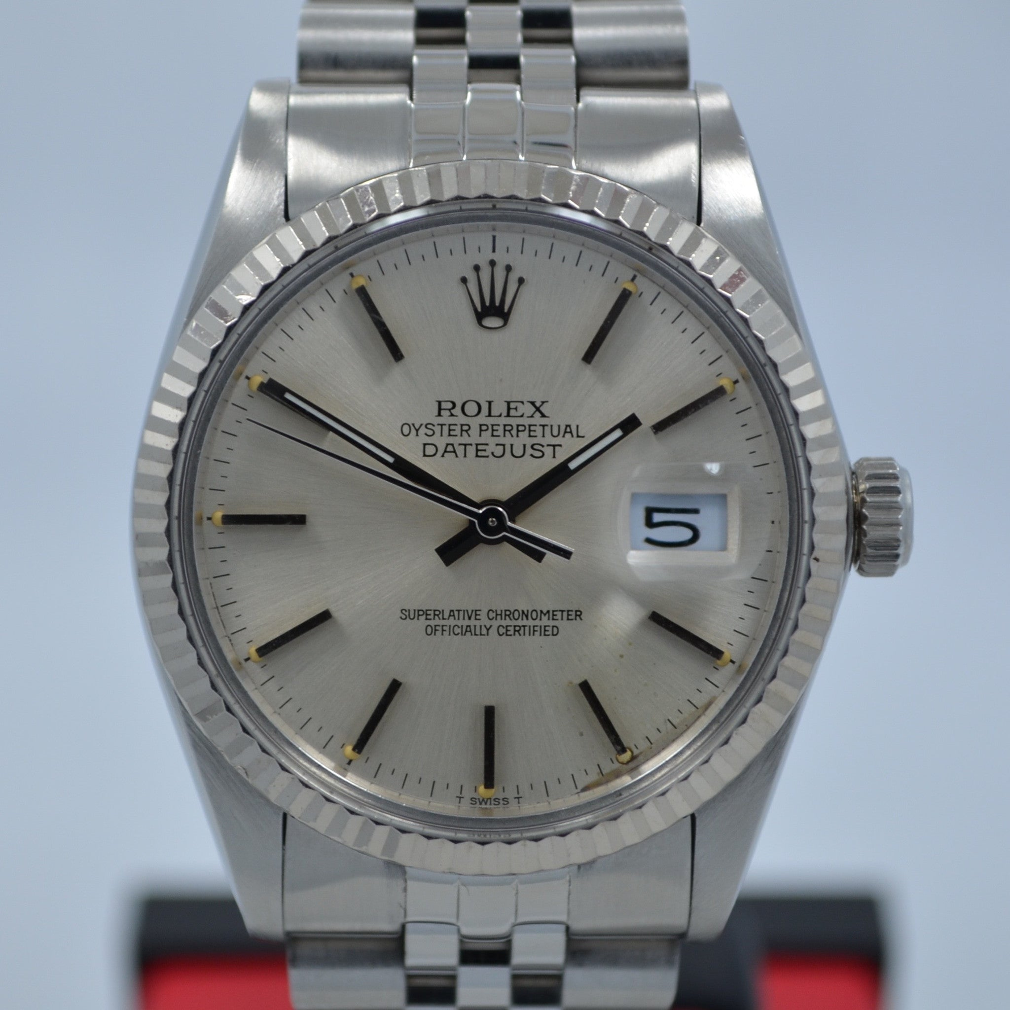 Vintage Rolex Datejust 16014 Steel Jubilee Quickset 1982 Wristwatch - Hashtag Watch Company