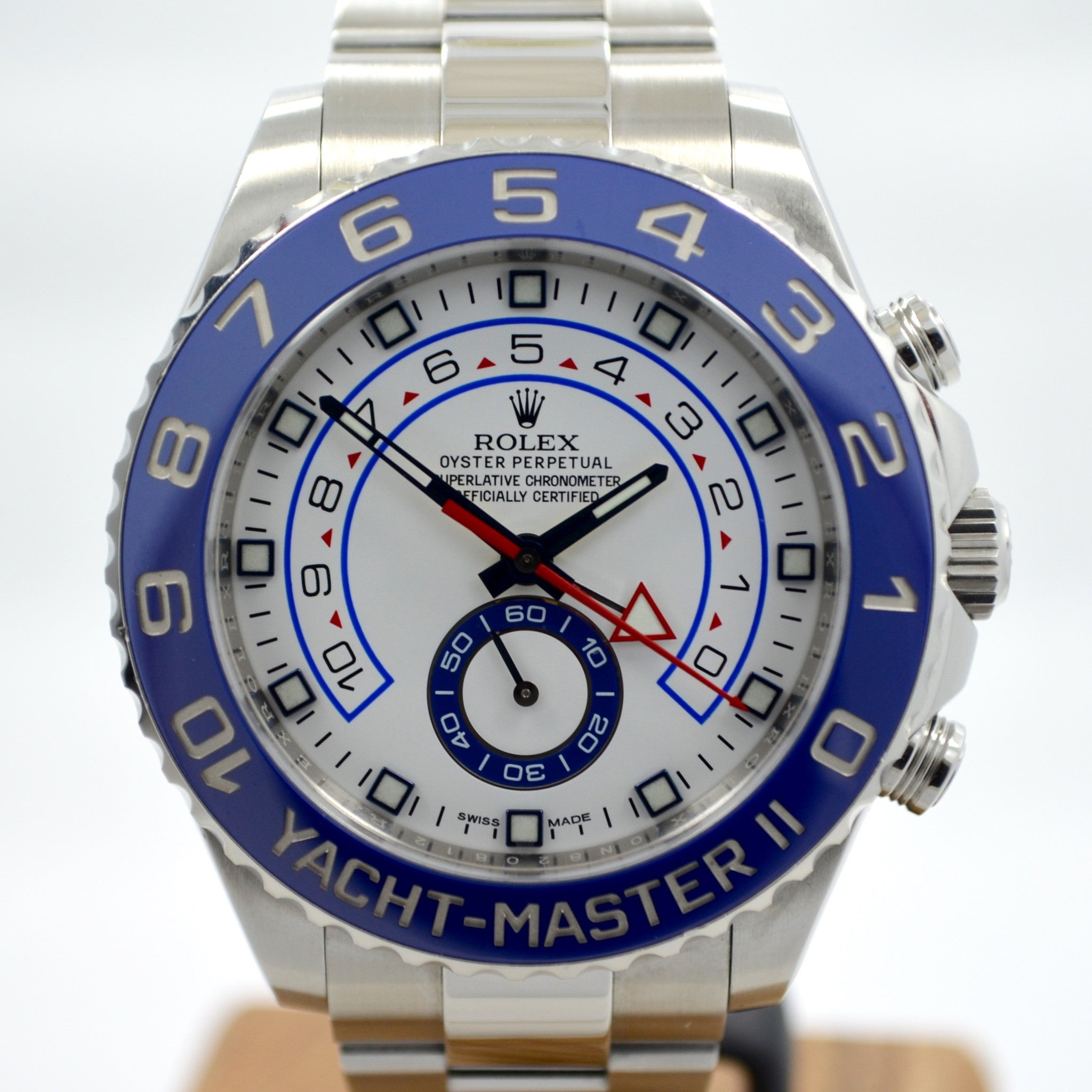 Rolex Yachtmaster II 116680 Stainless Steel Automatic Ceramic Wristwatch - Hashtag Watch Company
