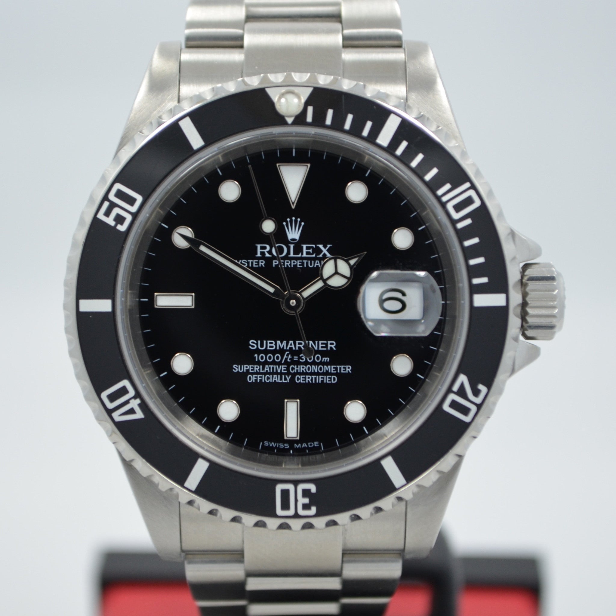 "Rolex Submariner 16610 ""D"" Serial Stainless Steel Date Automatic Watch - Hashtag Watch Company"