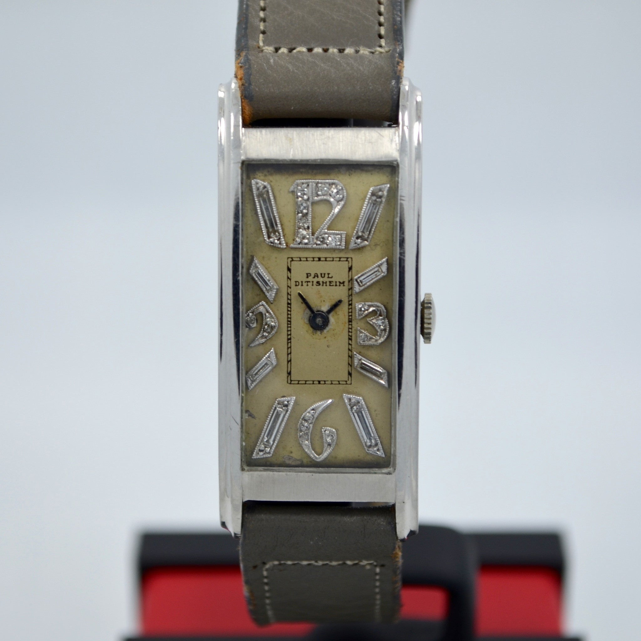Vintage Paul Ditisheim Platinum Art Deco Diamond Dial Manual Watch - Hashtag Watch Company