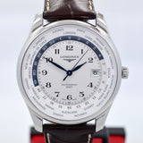 Longines Master Automatic GMT L2.802.4.70.3 Steel Leather Mens Watch - Hashtag Watch Company