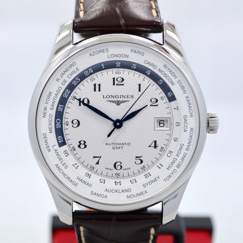 Longines Master Automatic GMT L2.802.4.70.3 Steel Leather Mens Watch