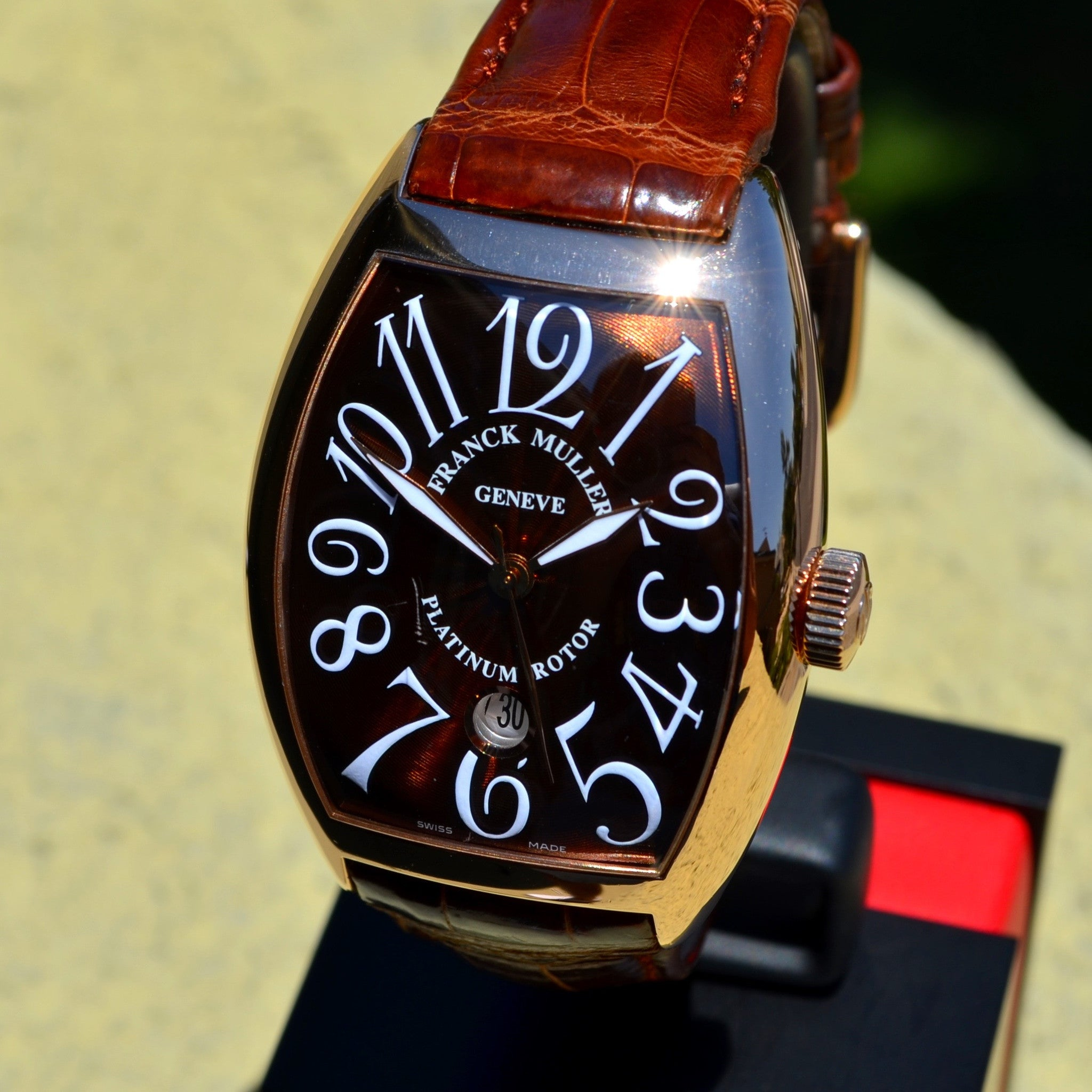 Franck Muller 8880 SC DT 18K Rose Gold XL Curvex Automatic Platinum Rotor Watch