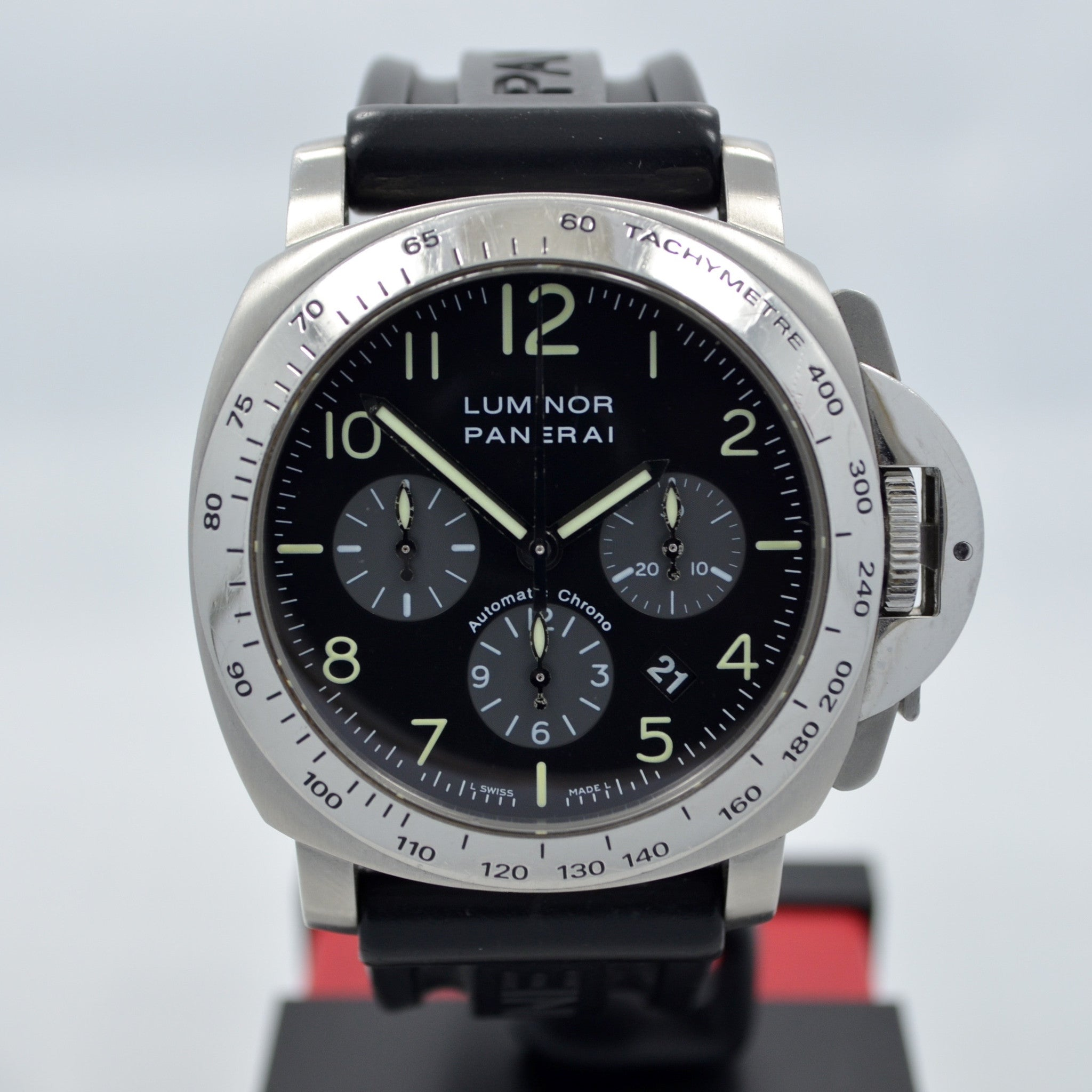 Panerai Luminor Chronograph PAM 162 Steel Automatic Wristwatch - Hashtag Watch Company