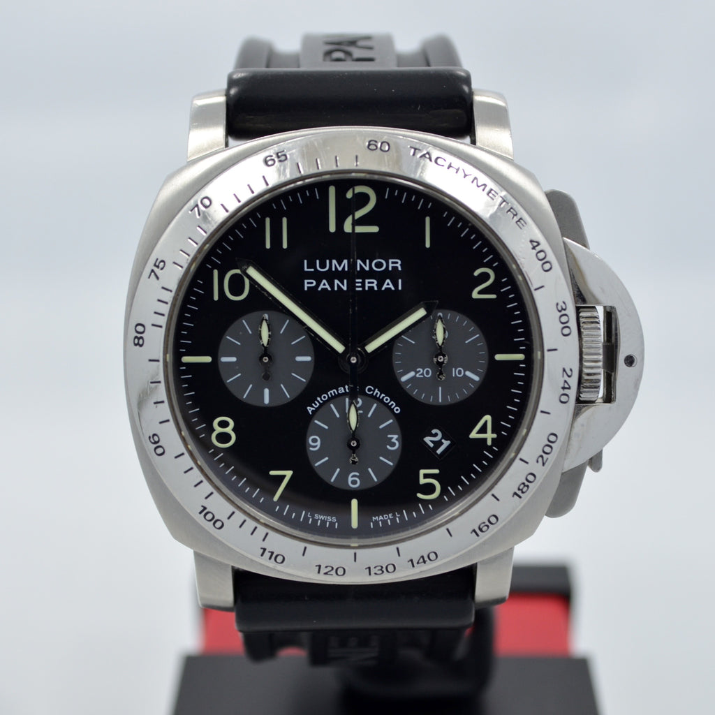 Panerai Luminor Chronograph PAM 162 Steel Automatic Wristwatch