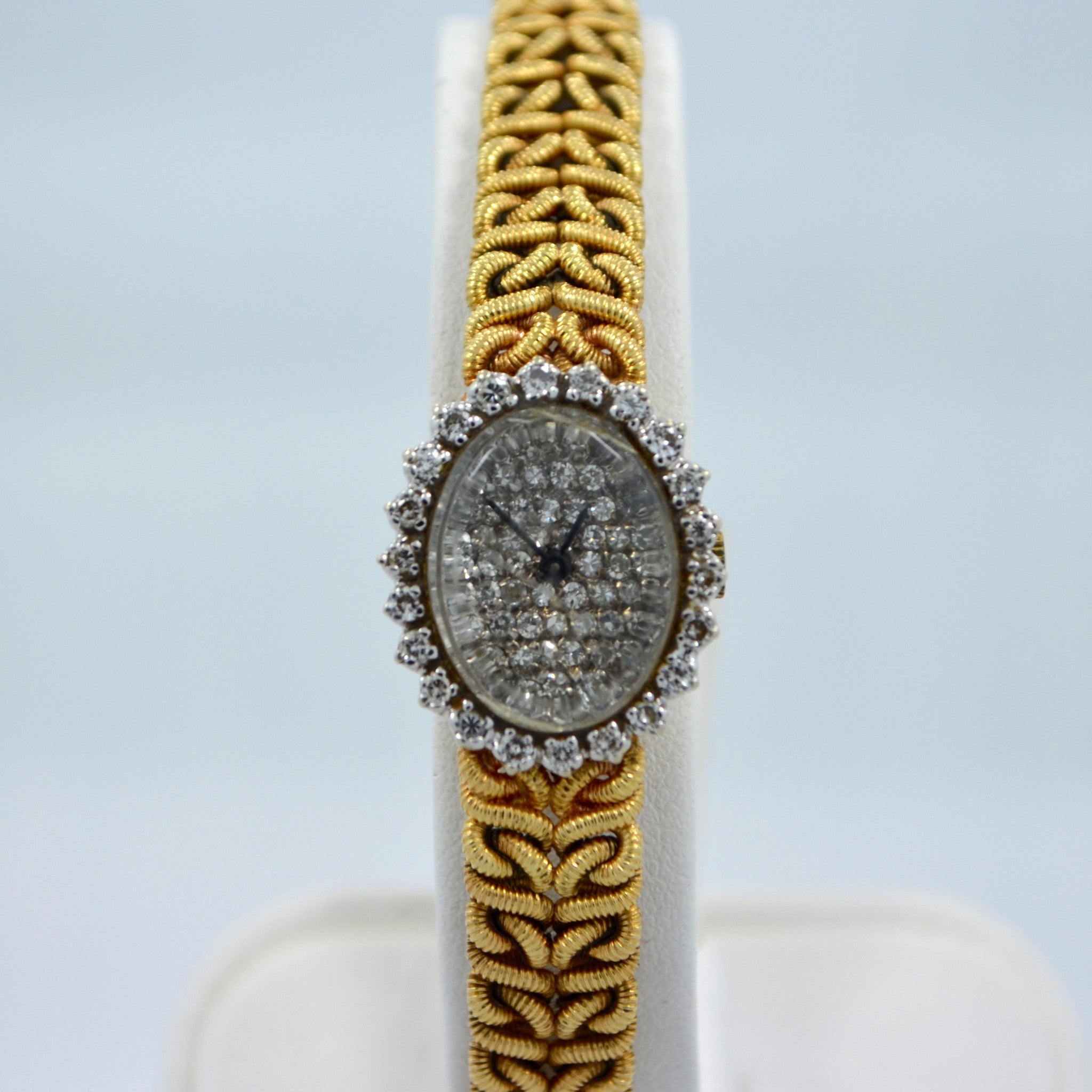Jules Jurgensen 14K Yellow Gold Solid Ladies Quartz Diamond Wristwatch - Hashtag Watch Company