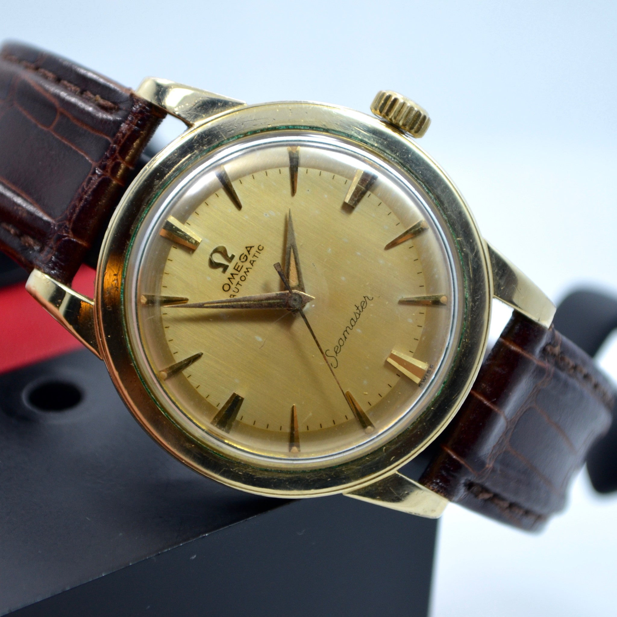 Vintage Omega Seamaster 6250 Gold Filled Automatic Cal. 500 Wristwatch 1950's - Hashtag Watch Company