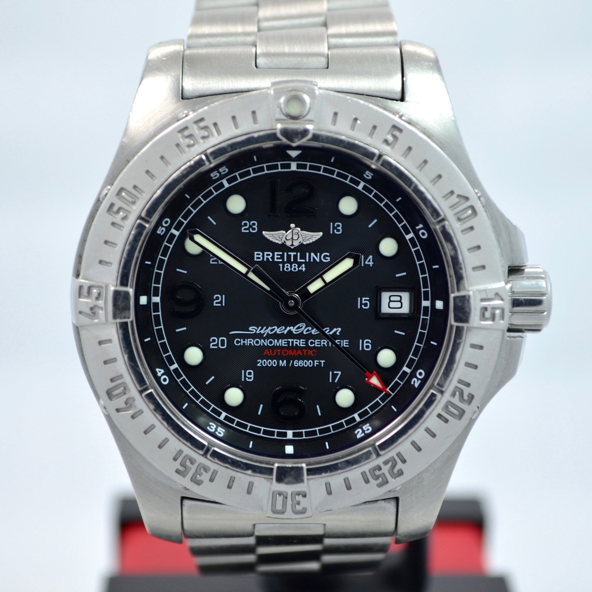 Breitling SuperOcean Steelfish A17390 Automatic Steel Black 44mm Wristwatch - Hashtag Watch Company