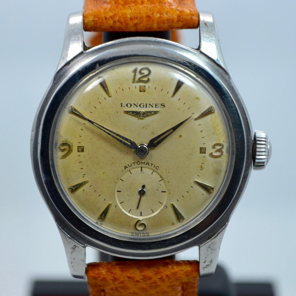 Vintage Longines 625C 2 Stainless Steel Automatic Cal. 22A Wristwatch 1950