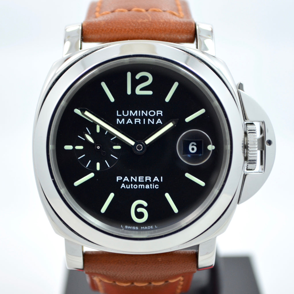 "Panerai Luminor Marina PAM 104 44mm ""E"" Series Steel Automatic Watch - Hashtag Watch Company"